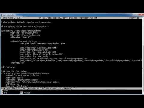 Bilgisayar Ağ Eğitimi - 35 - Phpmyadmin Htaccess İle Güvenli Hale Getirme