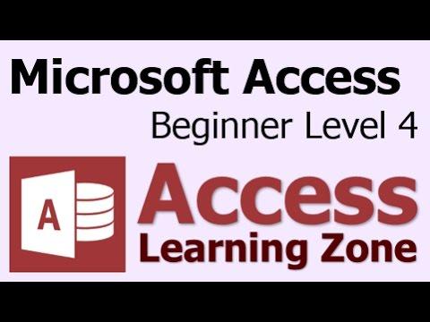 Microsoft Access Öğretici Acemi Düzey 4 Giriş