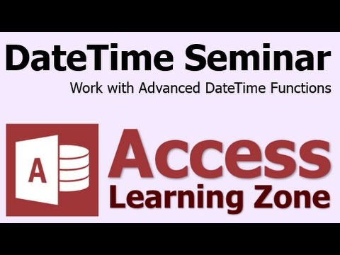 Microsoft Access Tarih/saat Seminer Giriş Gelişmiş