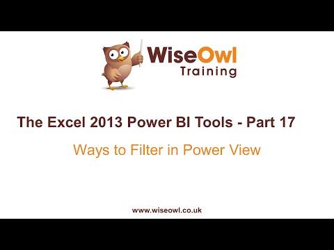 Excel 2013 Güç Bı Araçlar Bölüm 17 - Filtreler Güç Görünümü