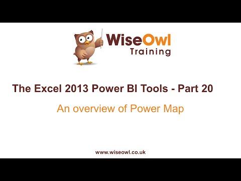 Excel 2013 Güç Bı Araçlar Bölümü 20 - Güç Harita Genel Bakış