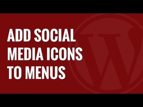 Sosyal Medya Icons Wordpress Menülere Ekleme