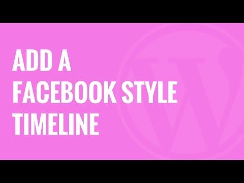 Nasıl Wordpress Facebook Tarzı Zaman Çizelgesi Eklemek