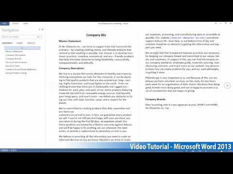 Microsoft Office Word 2013 Öğretici Adım Adım Part01 02 Okuyarak
