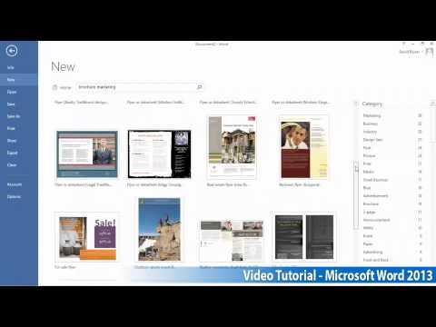 Microsoft Office Word 2013 Öğretici Adım Adım Part01 04 Şablonları