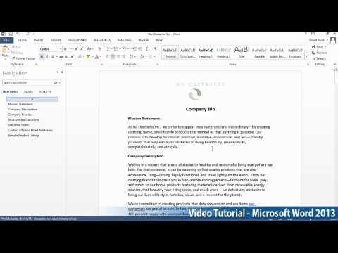 Microsoft Office Word 2013 Öğretici Adım Adım Part01 06 Pdf Tarafından