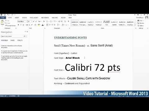 Microsoft Office Word 2013 Öğretici Adım Adım Part03 01 Fontintro Tarafından