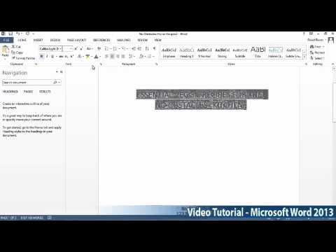 Microsoft Office Word 2013 Öğretici Adım Adım Part03 03 Durumda Tarafından