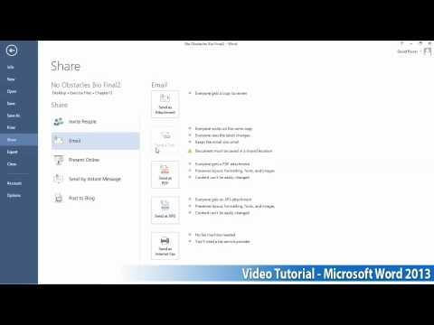 Microsoft Office Word 2013 Öğretici Adım Adım Part13 03 E-Posta İle