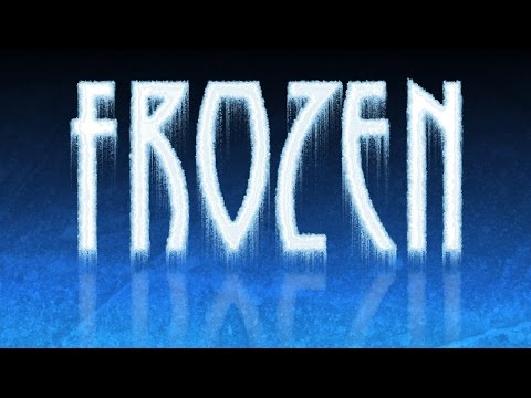 Photoshop: Dondurulmuş, Buzlu, Oluşturmak Metin Ve Yansıma