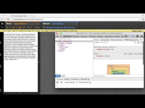Chrome Geliştirme Araçlarını Kullanarak: Aygıt Öykünme (5/6)