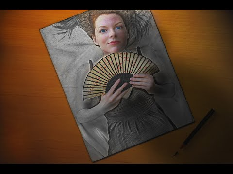 Photoshop   Manipülasyon Ve 3D Kız Çizim Fotoğraf Efektleri