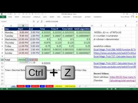 Excel Sihir Numarası 1206: Gün Ve Gece Vardiyası Saat Hesaplamaları: Toplam Saat Tek Hücre Formül Ekleme