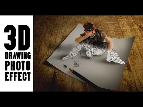 Photoshop Tutorial | Fotoğraf Manipülasyon Ve 3D Çizim Efekti
