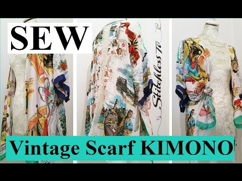 Dıy Vintage Eşarp Kimono