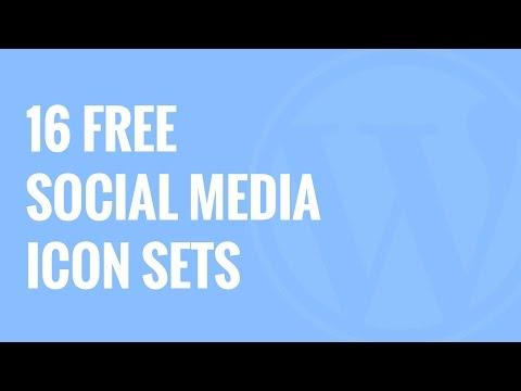 16 En İyi Özgür Sosyal Medya Icon Setler Wordpress İçin