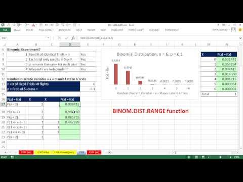Excel Magic Trick 1209: Bınom. Dıst. Binom Olasılık Hesaplamak İçin Aralığı İşlevi