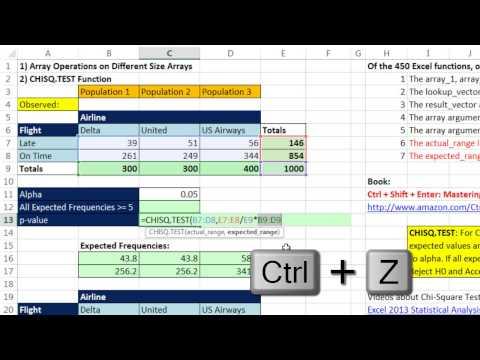 Excel Sihir Numarası 1211: Dizi İşlemleri Farklı Boyut Diziler Ve Chısq. Sınaması İşlevi