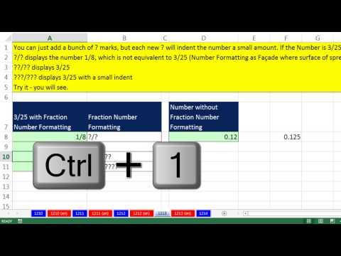 Excel Sihir Numarası 1213: Biçimlendirme Ve Doğru Numarayı Emin Kesir Sayısı Görüntülenir