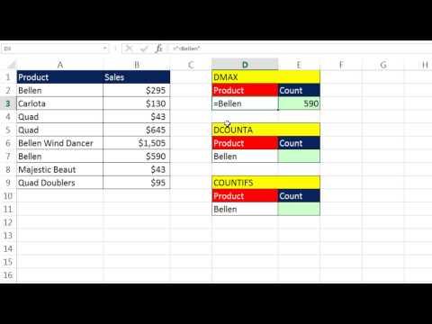 Excel Sihir Numarası 1214: Nasıl Excel Veritabanı İşlevleri Metin Ölçüt Girmek İçin