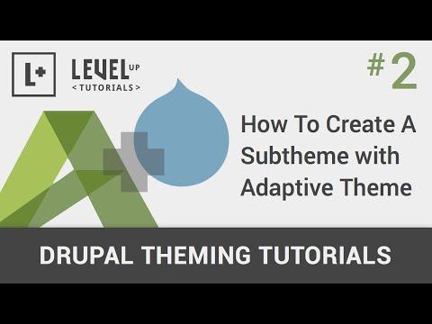 #2 - Nasıl Bir Subtheme İle Uyumlu Tema Oluşturmak İçin - Drupal Tema Rehberler