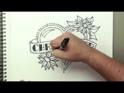 Afiş Ve Çiçek Tasarım - Hız Video Bir Kalple Çizmeyi | Kan Basıncı