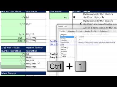 Excel Sihir Numarası 1216: Kesir Sayı Biçimlendirmesini Yalnızca Anlamlı Basamakları Göstermek İstiyorum: ### / ###