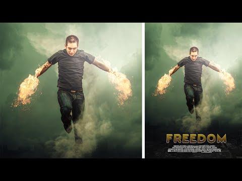 Photoshop İşleme | Film Afiş Tasarımı | Yangın Fotoğraf Efekti