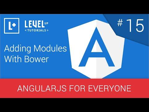 #15 - Ekleyerek Modüllerle Bower - Angularjs Herkes İçin