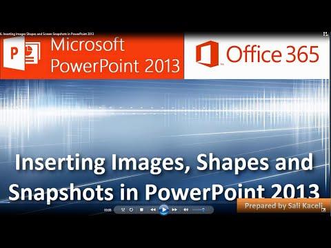 Powerpoint 2013: Resim, Şekil Ve Ekran Görüntüleri Ekleme Slaytlar (6 / 18)