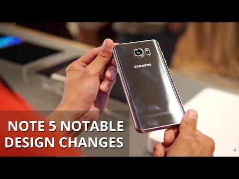 Samsung Galaxy Not 5 Önemli Tasarım Değişiklikleri