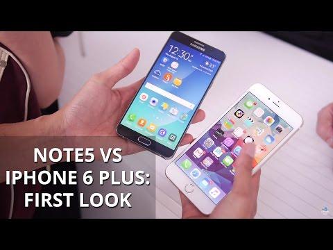 Samsung Galaxy Not 5 Vs Apple İphone 6 Artı: İlk Bakış