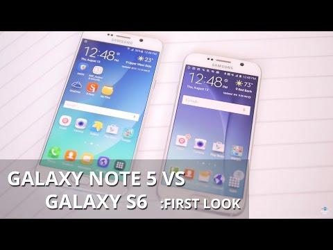 Samsung Galaxy Not 5 Vs Samsung Galaxy S6: İlk Bakış
