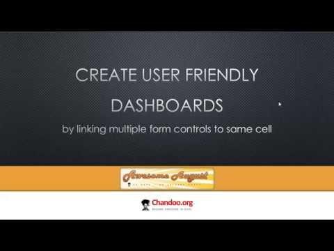 Kullanıcı Dostu Excel Panolar Oluşturmak İçin Basit Bir Hile