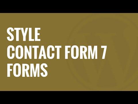 Nasıl İletişim Formu 7 Stil Formlar Wordpress