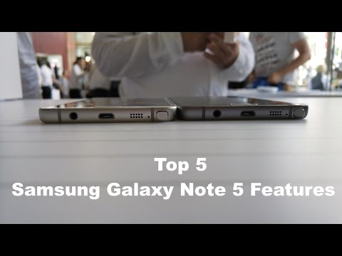 En İyi 5 Galaxy Not 5 Özellikler