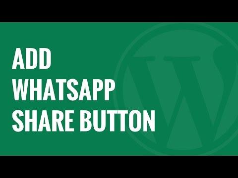 Nasıl Wordpress Whatsapp Paylaş Düğmesi Eklemek