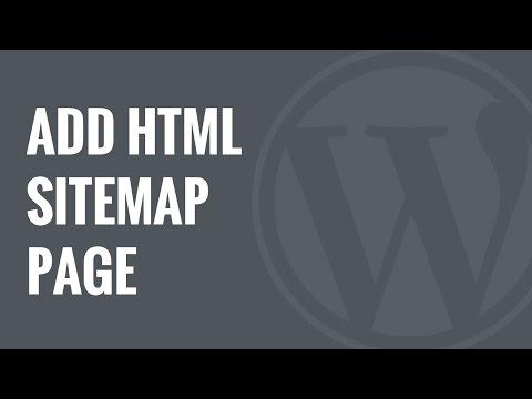 Nasıl Wordpress Html Site Haritası Sayfası Eklemek İçin