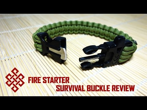 Yangın Starter Hayatta Kalma Paracord Tokası İnceleme / Genel Bakış